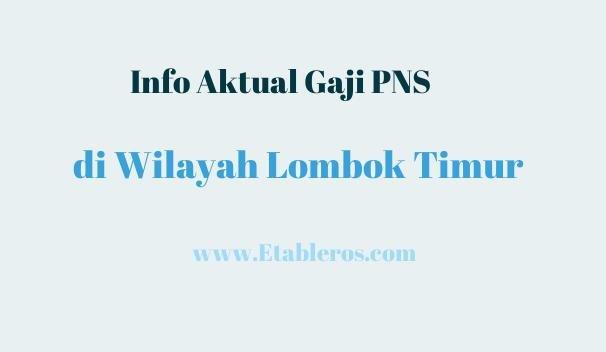 Info Gaji dan Penghasilan PNS di Lombok Timur pada Tahun 2021